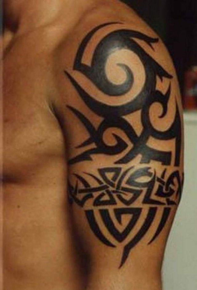 Cool Arm Tribal Tattoo Design