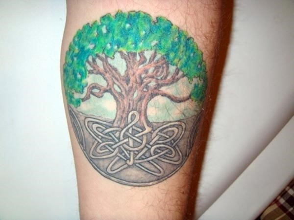 Cool Celtic Tree Of Life Tattoo Design For Forearm