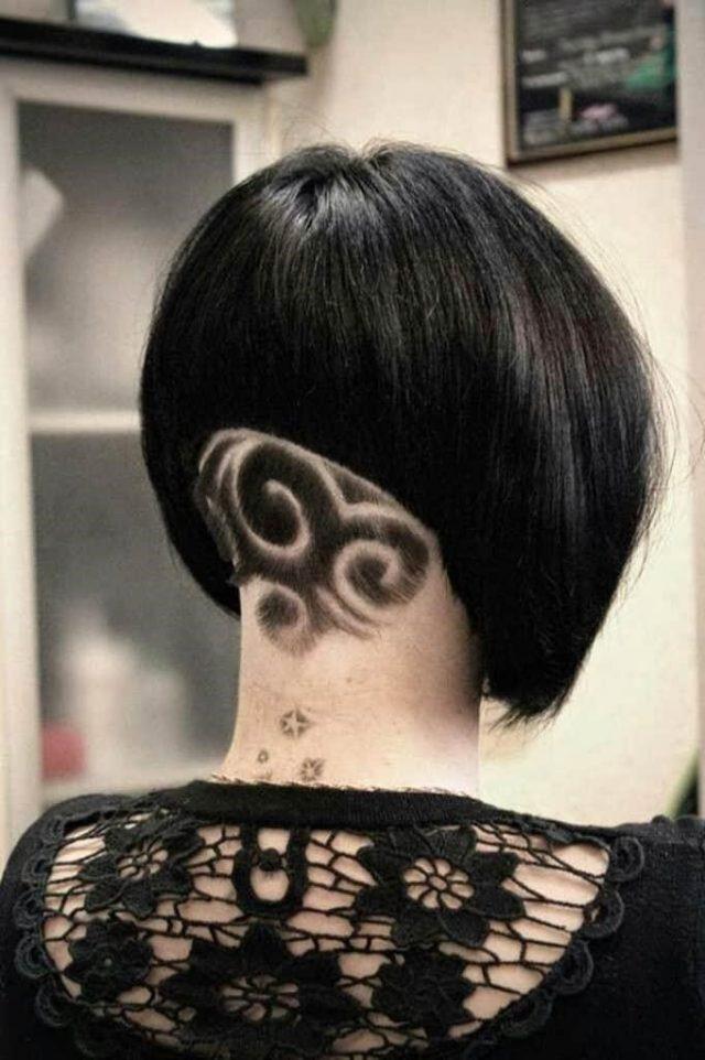 Cool Hair Tattoos Ideas for Girls