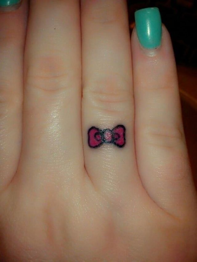 Creative Small Bow Tattoo Designs