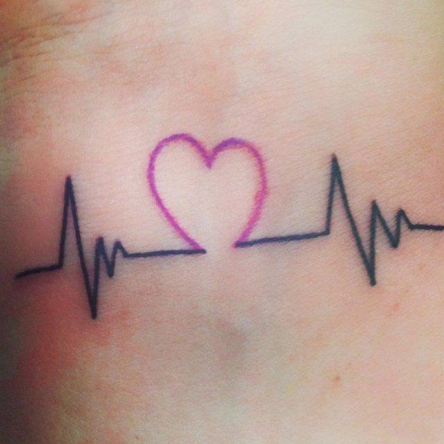 Creative Small Love Life Tattoo On Wrist