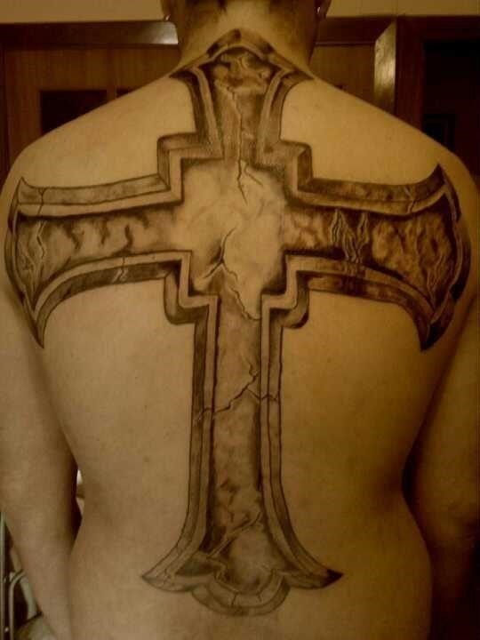 Cross Cover up Tattoo