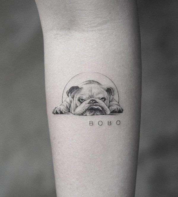 Cute Dog Tattoo 17