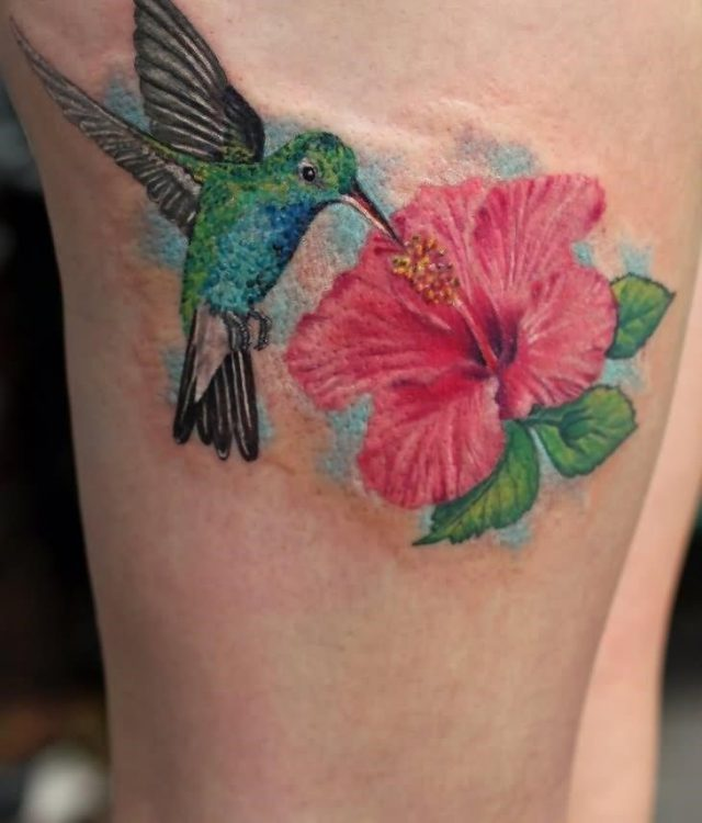 Cute Hummingbird Tattoo For Girls