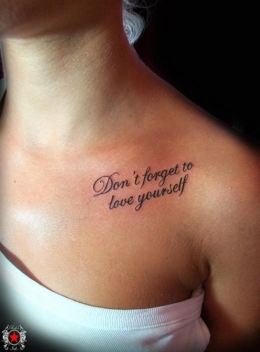 Cute Quote Tattoo by Robert Greg Voulgari