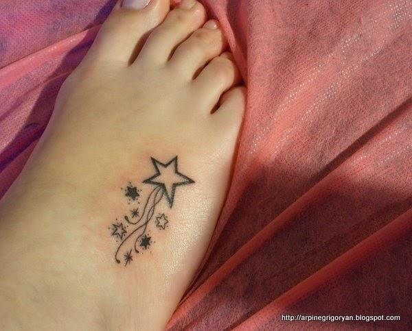 Cute Stars Foot Tattoo Image