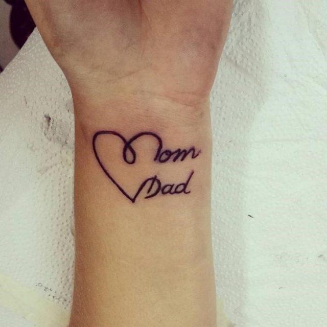 Dad Wrist Tattoo