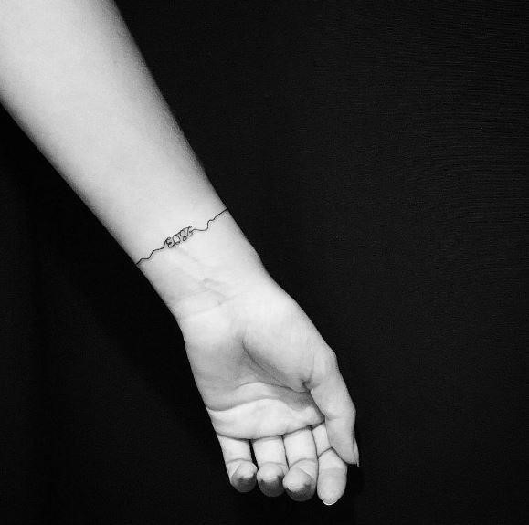 Date Bracelet tattoos design and Ideas