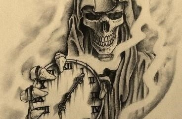 Death and time tattoo 368×242