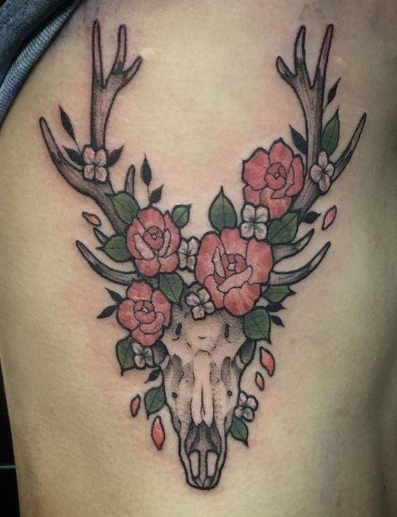 Deer skull tattoo 44