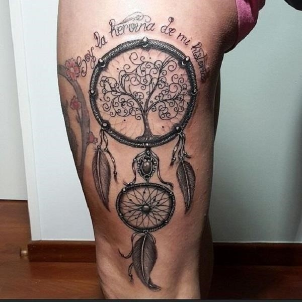Dreamcatcher Tattoo Design 10