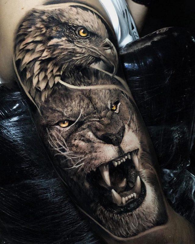Eagle Lion upper arm