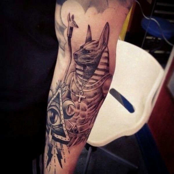 Egyptian Spiritual Tattoo On Arm