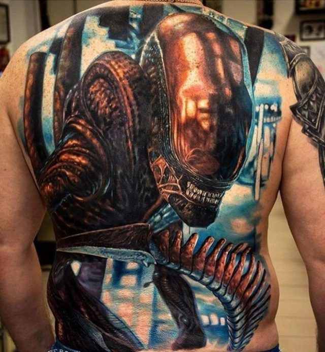 Evil Full Back Tattoo1