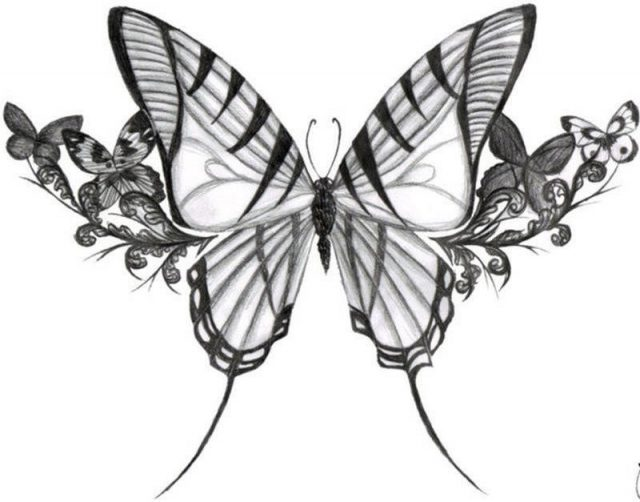 Fabulous Butterflies Tattoo Design