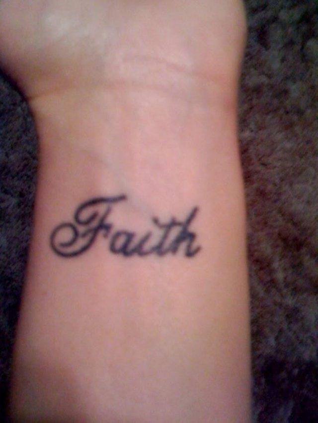 Faith Tattoo On Wrist 1