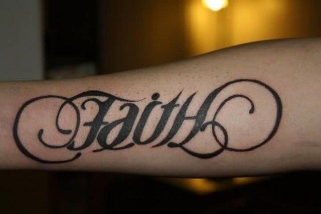 Faith Tattoos on Forearm
