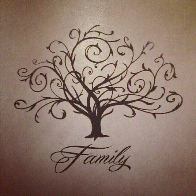 Family Tree Tattoo Design