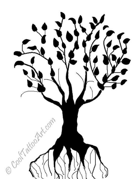 Family Tree Tattoos Designs