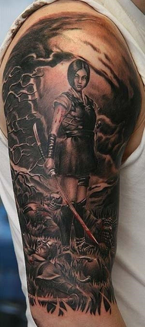 Fighting Warrior Tattoos inspiration 6