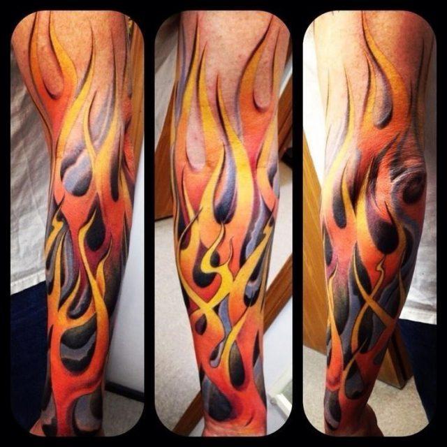 Flame Tattoo Sleeve