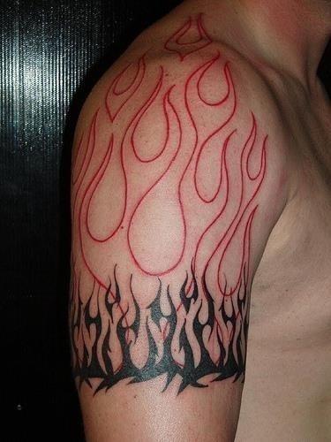 Flame Tribal Tattoo5
