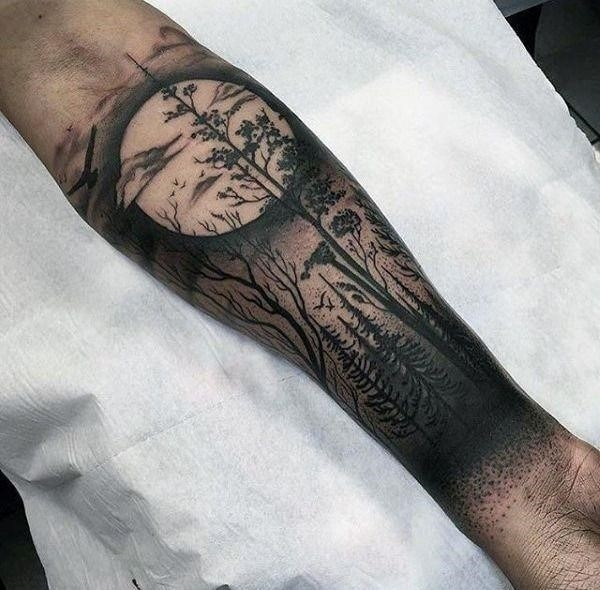 Forest Sleeve Tattoo Designs
