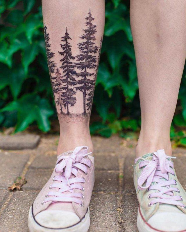 Forest tattoo by Dżudi Bazgrole