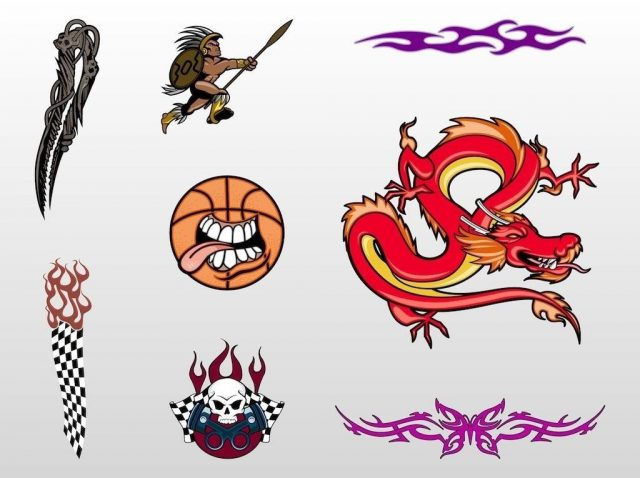 FreeVector Cool Tattoo Designs 1