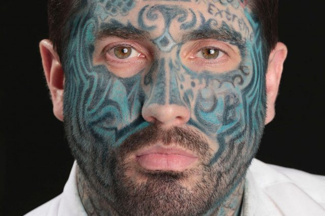 Full Face Tattoo