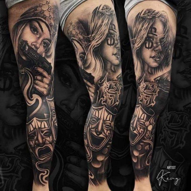 Full Leg Tattoo 800×800