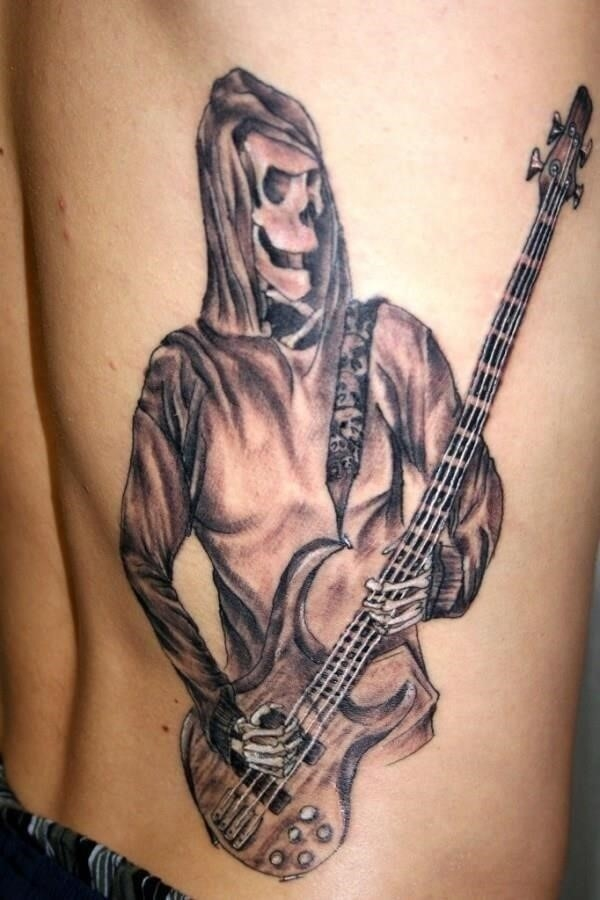 GUITAR TATTOO skelington