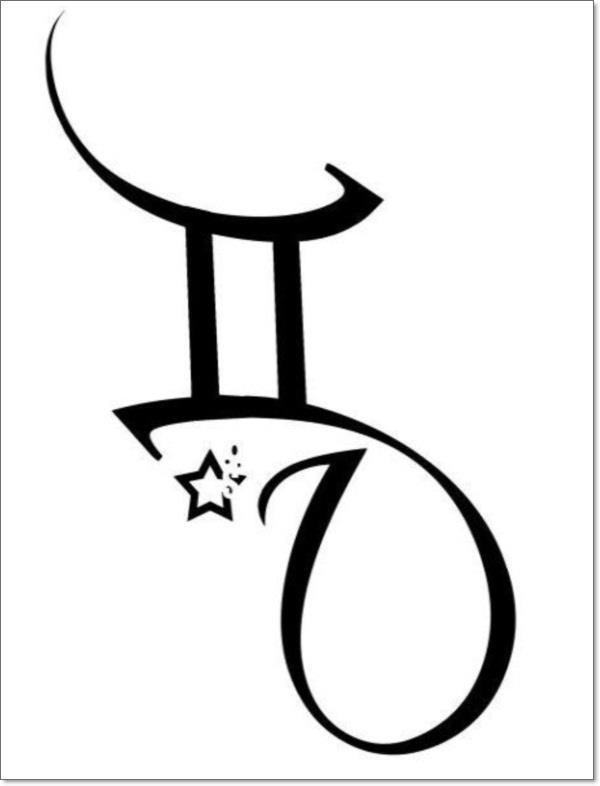 Gemini Tattoo Designs 4