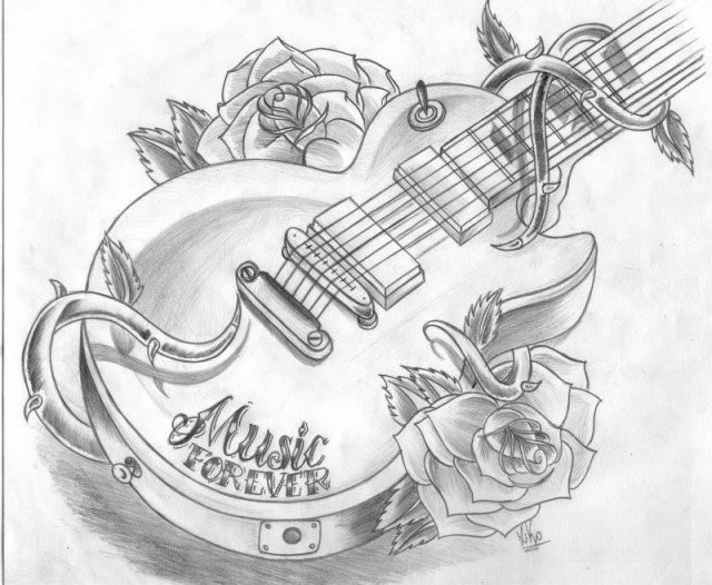 Guitar Tattoos 13