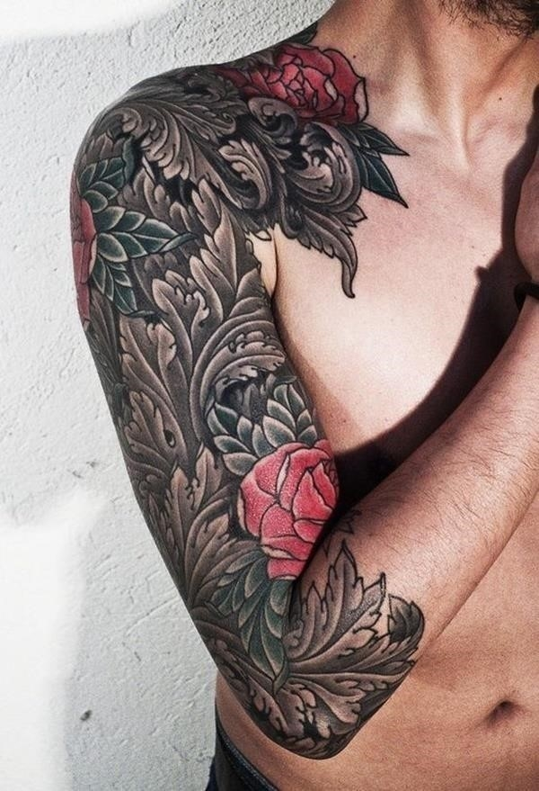 Half Sleeve Tattoos for Girls and Boys72 leaves