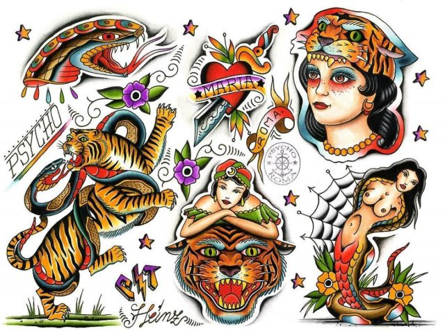 Heinz Psycho Tattoo Rome Italy 80