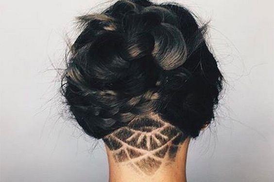 Hidden Hair Tattoo