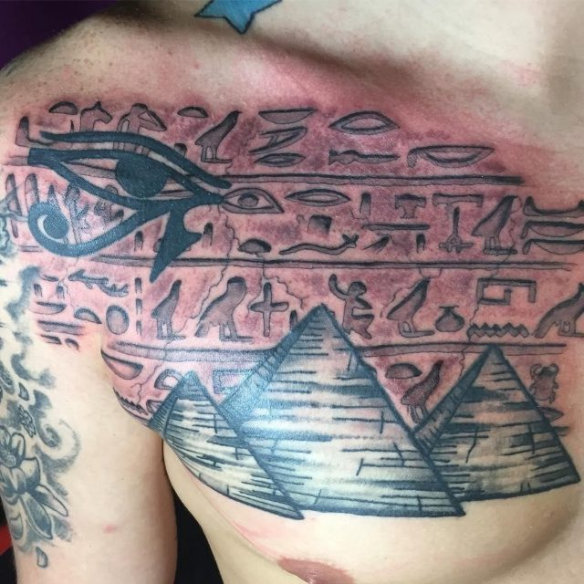 Hieroglyphics Egyptian tattoo design ideas 01