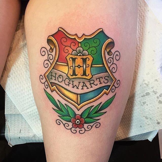 Hogwarts harry potter tattoo 2