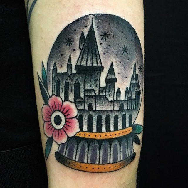 Hogwarts harry potter tattoo 3