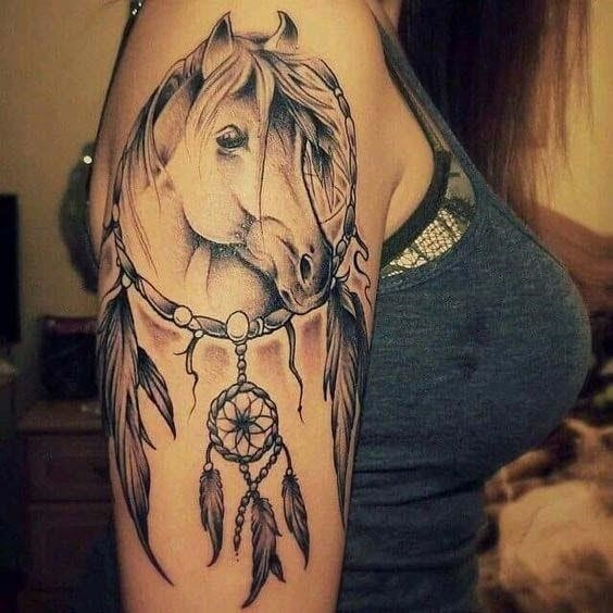 Horse Tattoos on Arm