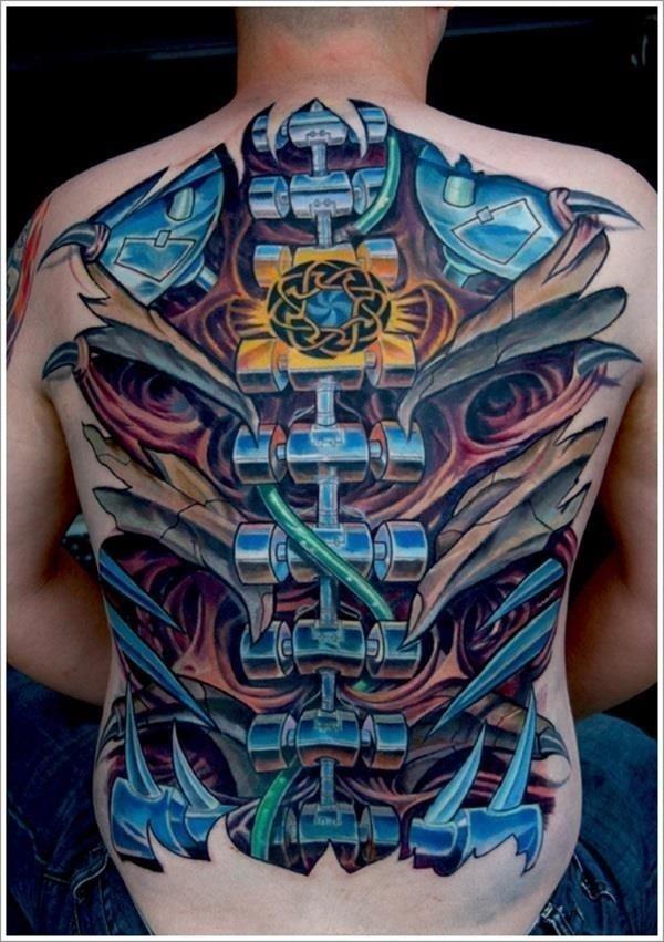 Insane mechanics tattoo Designs 10