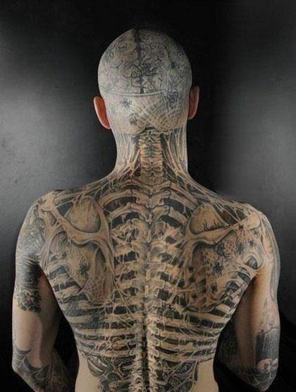 Inspiration The best 3D tattoos sschiena
