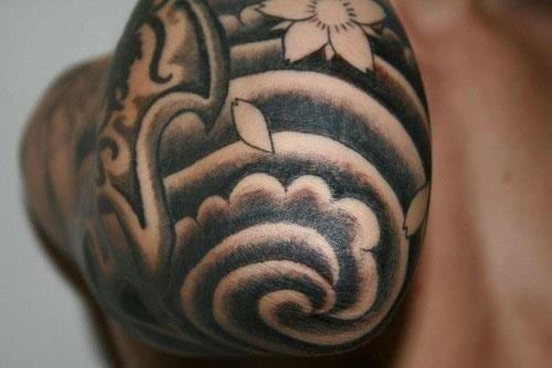 Japanese Elbow Tattoo Design