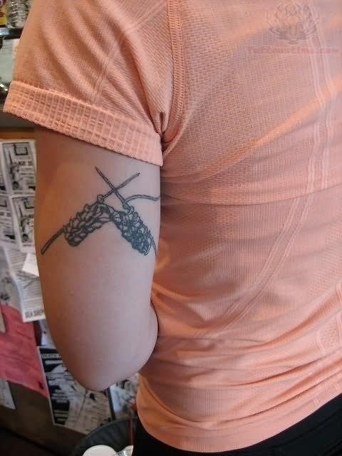 Knitting Tattoo On Triceps