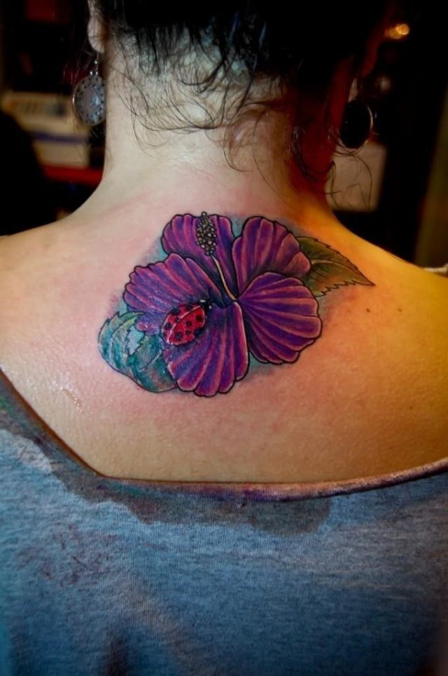 Ladybug and Flower Tattoos 680×1024
