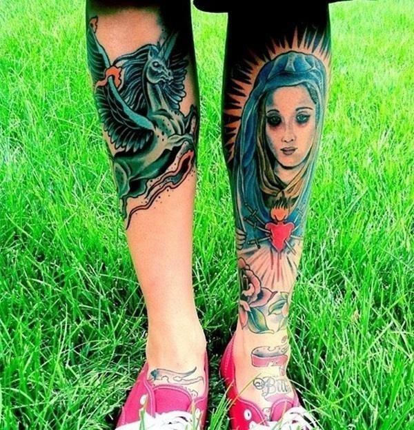 Leg Tattoos 28