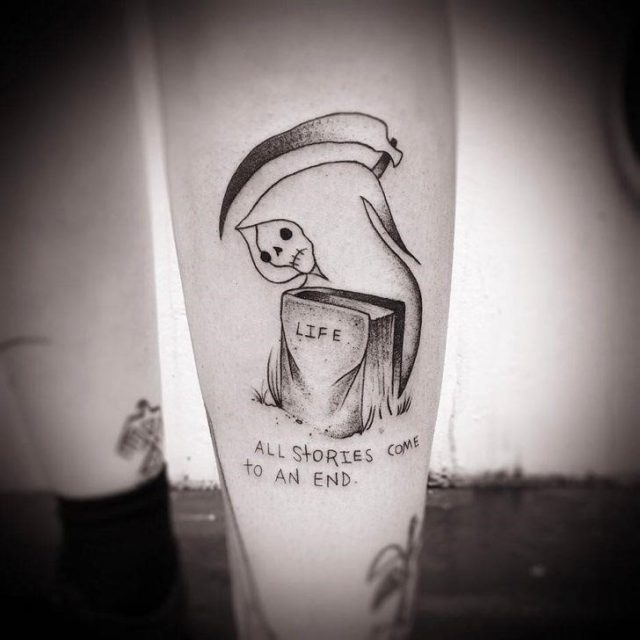 Life and Death Tattoo by Thomas Somebody 728×728