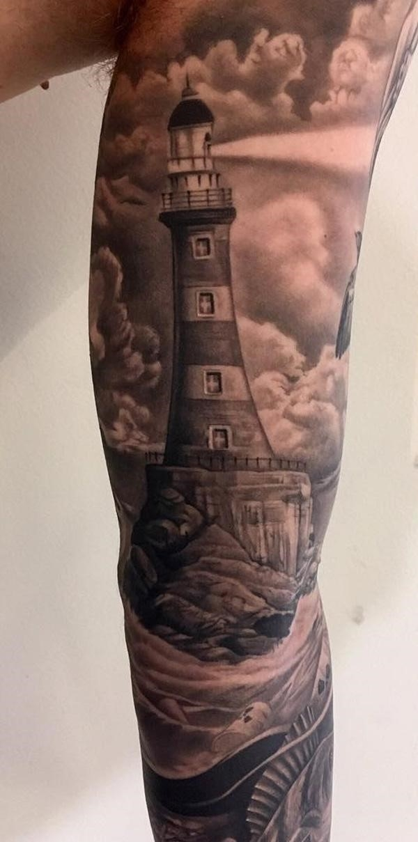 Lighthouse Tattoo 24
