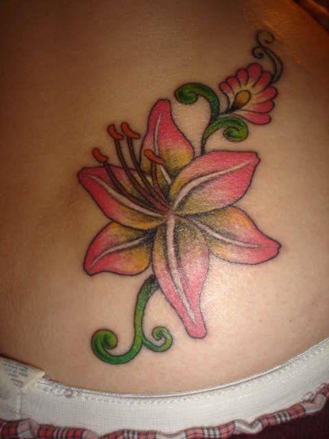 Lily+Flower+Tattoo pink lily tattoo 25892